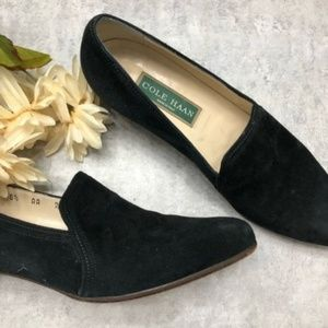 Cole Haan Vintage Black Heeled Loafer Size 8.5AA